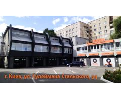 Заезд на ул. Стальского 34, Киев, напротив эпицентра (Vianor, УкрШина, ТаймШина)