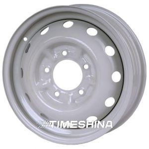 Стальные диски Кременчуг ВАЗ 2121 W5 R16 PCD5x139.7 ET58 DIA98 белый