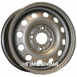 Стальные диски Евродиск 53A45D W5.5 R14 PCD4x100 ET45 DIA57.1 silver