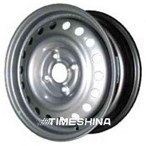 Стальные диски Евродиск 53C45D W5.5 R14 PCD4x108 ET45 DIA57.1 silver