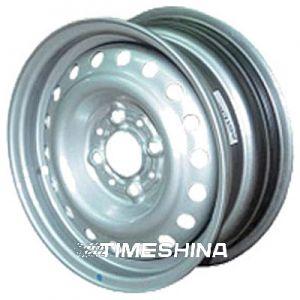 Стальные диски Евродиск 64C37D W6 R15 PCD4x108 ET37 DIA57.1 silver