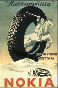 Hakkapeliita 1936 год рекламный плакат NOKIAN